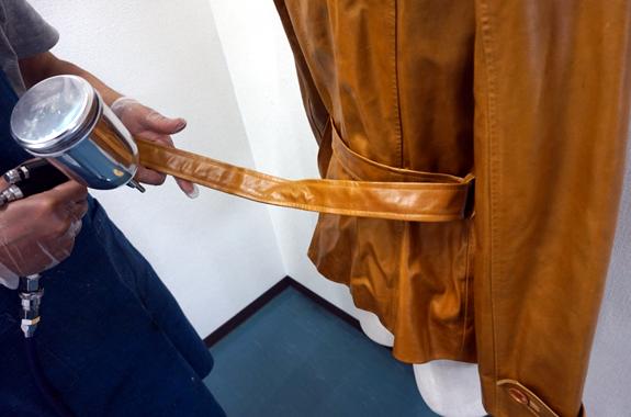 革製ジャケットの染め直し
